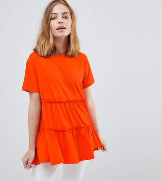 Asos T-Shirt With Tiered Smock Hem
