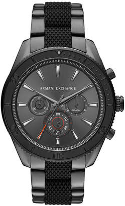 Armani Exchange Men's Chronograph Enzo Two-Tone Stainless Steel Bracelet Watch 46x52mm
