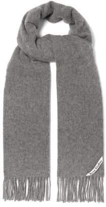 Acne Studios Canada Skinny Wool Scarf - Womens - Grey