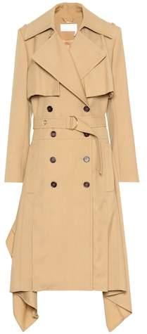 Wool trench coat