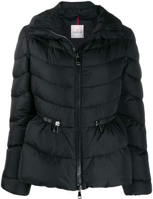 Moncler cinched waist zipped puffer jacket
