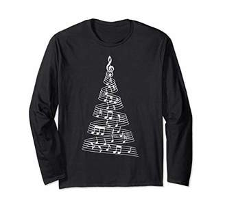 Music Notes Christmas Tree Music Gift Long Sleeve Shirt