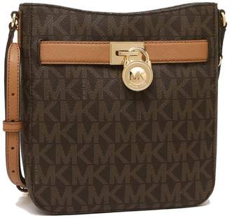 Michael Kors Hamilton Jet Set Travel Logo Brown Polyurethane Messenger Bag