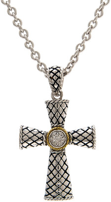 Candela Andrea La Fe 18K & Silver Diamond Cross Necklace