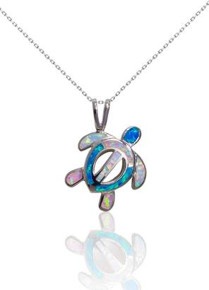 Bean & Vanilla Multicolor-Opal Turtle Pendant