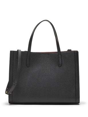 Banana Republic Italian Leather Medium Tailored Tote Bag