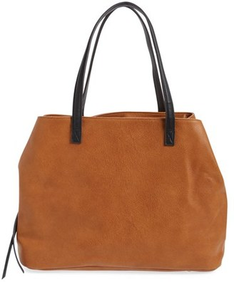 Sole Society Millar Faux Leather Tote - Brown $69.95 thestylecure.com