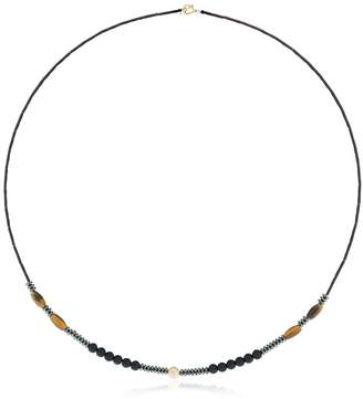 Luis Morais Yellow Gold & Tiger's Eye Necklace