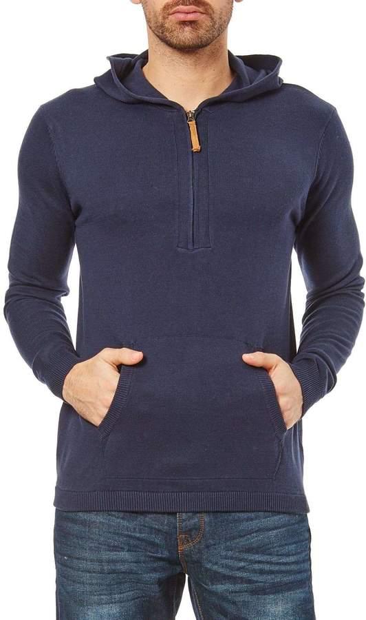 Pullover mit Kapuze - marineblau