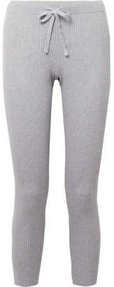 Skin - Vanya Ribbed Cotton-blend Leggings - Gray