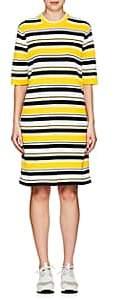 Marc Jacobs WOMEN'S STRIPED COTTON-BLEND MOCK-TURTLENECK DRESS-YELLOW SIZE XS