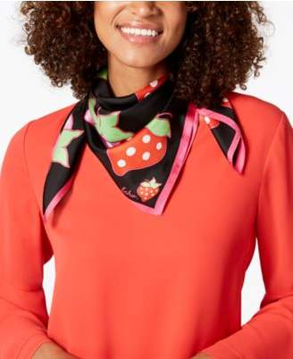Echo Strawberry Patch Silk Square Scarf