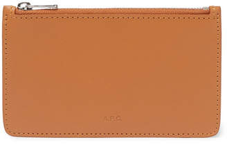 A.P.C. Walter Leather Zipped Cardholder - Tan