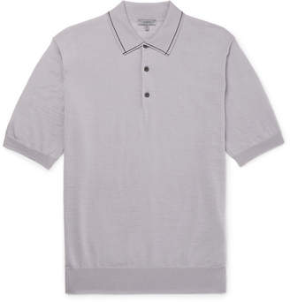 Lanvin Contrast-Tipped Wool Polo Shirt