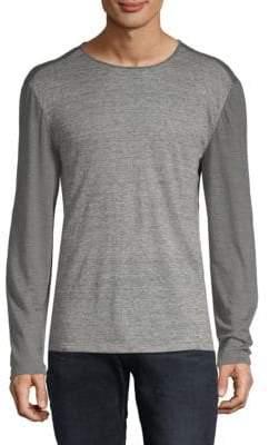 John Varvatos Linen Striped T-Shirt