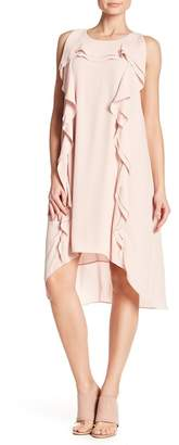 BCBGMAXAZRIA Ruffle Accent Hi-Lo Dress