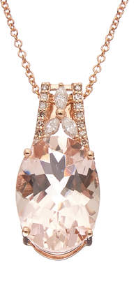 Effy Fine Jewelry 14K Rose Gold 5.55 Ct. Tw. Diamond & Morganite Necklace