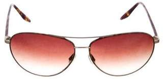 Barton Perreira Jet-Setter Aviator Sunglasses