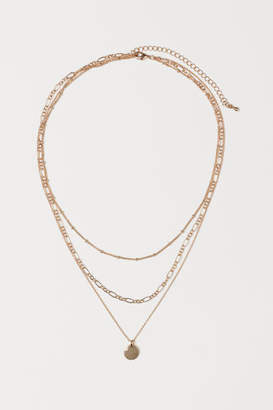 H&M 3-strand Necklace - Gold