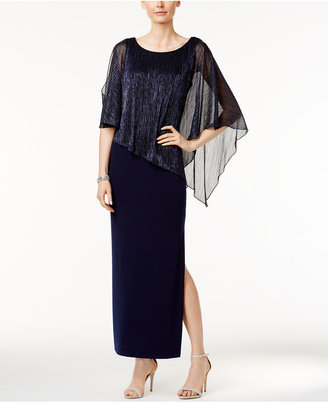 Connected Metallic Illusion Overlay Gown $89 thestylecure.com