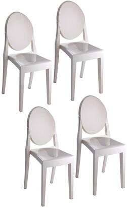 Pangea Set Of 4 Phantom Dining Chairs
