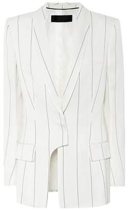 Haider Ackermann Asymmetric pinstriped blazer