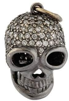 Sydney Evan 14K Diamond Skull Pendant