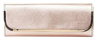 Gold-Tipped Metallic Clutch $18.99 thestylecure.com