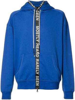 Mostly Heard Rarely Seen zipped hoodie