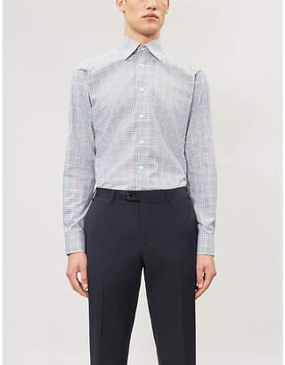Eton Slim-fit check cotton-twill shirt