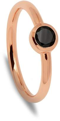 Ring Black Lola Rose London - Curio Stud Stacker Spinel