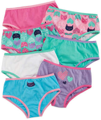 Okie Dokie 7-pk. Cotton Cat Briefs - Toddler Girls 2t-5t