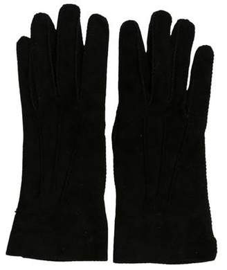 Loro Piana Suede Wrist Gloves