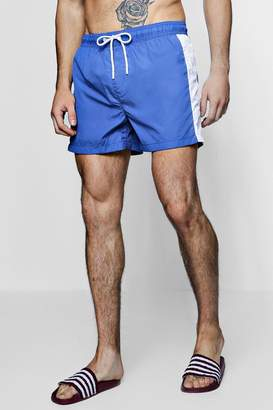 boohoo Contrast Side Stripe Swim Shorts
