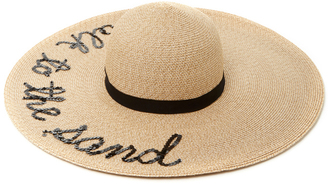 Eugenia Kim Talk To The Sand Sun Hat $475 thestylecure.com
