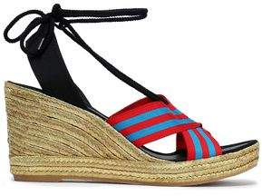 Marc Jacobs Striped Grosgrain Wedge Espadrille Sandals