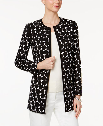 Kasper Dot-Print Topper Jacket $139 thestylecure.com