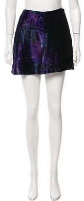 Alberta Ferretti Velvet Mini Skirt
