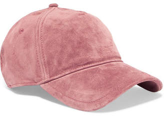 Rag & Bone Marilyn Leather-trimmed Suede Baseball Cap - Blush