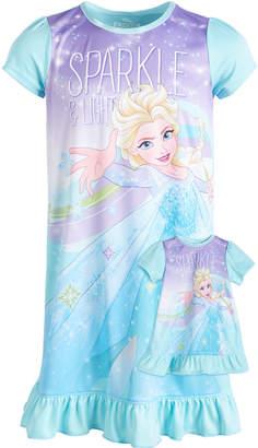 LTB Frozen Little & Big Girls Sparkle Nightgown & Doll Nightgown