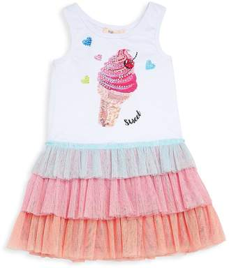 Baby Sara by Sara Sara Little Girl's Ice Cream Ruffle Dress