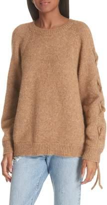 IRO Cold Shoulder Alpaca Blend Sweater