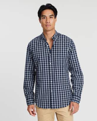 J.Crew Secret Wash Stretch Heather Heartly Glen Plaid Shirt