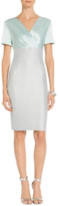 St. John Hansh Sequin Knit V-Neck Dress