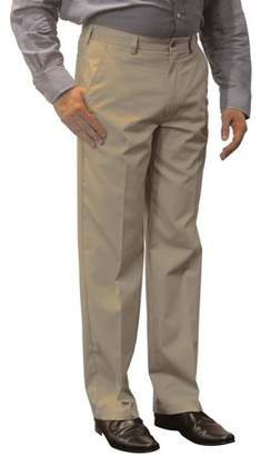 George Men's Premium Flat Front Khaki Pants