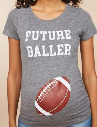 e15a6b84bfafb ... Motherhood Maternity Future Baller Short Sleeve Maternity T Shirt