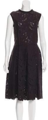 Lanvin Lace Sleeveless Dress