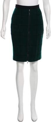 Akris Punto Wool Mini Skirt
