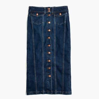 Madewell Denim Seamed Button-Front Skirt