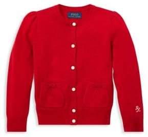 Ralph Lauren Little Girl's& Girl's Wool Cardigan